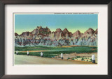 Badlands National Park, South Dakota, Formation East of Lower Tunnel View Print