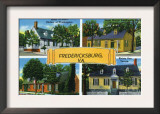Fredericksburg, Virginia, Famous Scenes of the City Poster