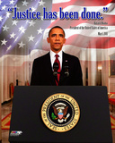 "President Barack Obama ""Justice has been done"", May 1, 2011 Photo"