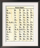 Cherokee Alphabet Developed by Sequoyah Prints