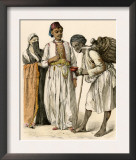 Egyptian Couple Buying a Drink from a Water-Seller in Port-Said, Egypt Poster