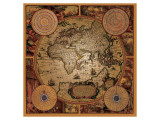 Antique Map, Cartographica I Giclee-tryk i høj kvalitet