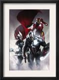 Secret Invasion 6 Cover: Captain America, Thor and Iron Man Art