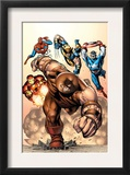 Marvel Two-In-One 7 Cover: Juggernaut, Wolverine, Captain America, Spider-Man and Iron Man Posters by Sean Chen
