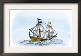 One of Henry Hudson&#39;s Ships, 17th Century Poster