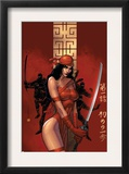 Elektra The Hand 1 Cover: Elektra Fighting Prints by Bill Sienkiewicz