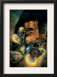 Ghost Riders: Heavens On Fire 3 Cover: Ghost Rider Print by Das Pastoras