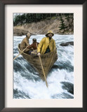 Prospectors Risking the White Horse Rapids of the Yukon River Going to the Klondike Gold Rush 1898 Art