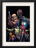 Ultimate Avengers 3 Cover: Red Wasp, Hulk, Spider-Man, Hawkeye, Nick Fury and War Machine Prints by Carlos Pacheco