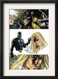 Wolverine 55 Headshot: Cyclops, Wolverine and Emma Frost Prints by Simone Bianchi