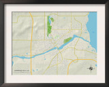 Political Map of Chippewa Falls, WI Print