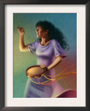 Miriam Dancing with Tambourine Poster
