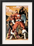 She-Hulk 34 Group: Red Guardian, Ursa Major, Darkstar and Crimson Dynamo Prints by Vincenzo Cucca