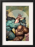 Incredible Hulk 602 Cover: Skaar and Juggernaut Prints by Ariel Olivetti