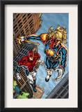 New Excalibur 4 Cover: Lionheart and Captain Britain Prints by Steven Cummings