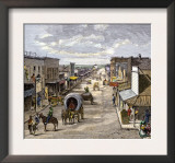 Main Street in Wichita, Kansas, 1870s Posters