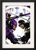 Dark Reign: Hawkeye 2 Cover: Hawkeye and Bullseye Prints by Clint Langley