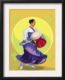 Traditional Korean Drummer Prints