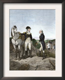 First Meeting of George Washington and Alexander Hamilton, Wearing Continental Army Uniforms Posters