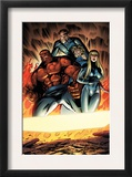 Fantastic Four 552 Group: Thing, Mr. Fantastic, Invisible Woman and Human Torch Posters by Paul Pelletier