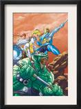Starjammers 1 Cover: Chod, Corsair and hepzibah Print by Ale Garza
