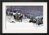 George Washington's Army Crossing the Icy Delaware River to Attack Trenton, December 1776 Prints