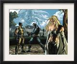 Wolverine 55 Group: Cyclops, Wolverine, Emma Frost and Sabretooth Fighting Posters by Simone Bianchi