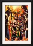 Incredible Hercules 129 Cover: Hercules, Cho, Amadeus, Banshee, Vision, Ant-Man and Wasp Print by David Williams