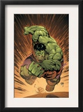 Marvel Adventures Hulk 14 Cover: Hulk Print by David Nakayama