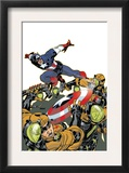 Captain America V4, 26 Cover: Captain America Print by Dave Johnson