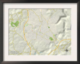 Political Map of Beckley, WV Prints