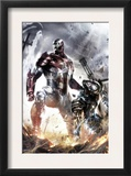 War Machine 10 Cover: Iron Patriot and War Machine Prints