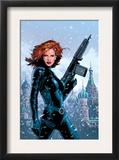 Black Widow 1 Cover: Black Widow Fighting Art by Greg Land