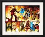 The Order 1 Group: Anthem, Heavy, Calamity, Pierce, Avona, Maul, Corona and Infernal Man Fighting Prints by Barry Kitson