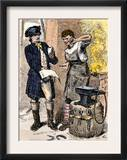 Blacksmith Angry at Being Served a Tax Demand, a Scene in Shays&#39;s Rebellion, c.1786 Art