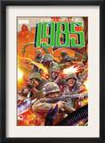 Marvel 1985 4 Cover: Marvel Universe Print by Tommy Lee Edwards