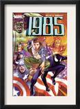 Marvel 1985 6 Cover: Spider-Man, Captain America, Iron Man and Hulk Posters by Tommy Lee Edwards