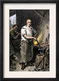Pat Lyon, Blacksmith, at the Forge Prints