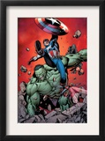 Ultimate Avengers 4 Cover: Captain America, Hulk, Red Wasp and Black Widow Prints by Carlos Pacheco