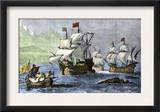 Columbus Expedition Coasting Along the Northern Shore of Cuba Posters