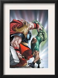 Avengers: The Initiative 22 Cover: Thor and Gauntlet Poster by Humberto Ramos