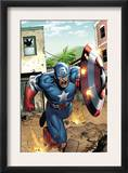 Marvel Adventures Super Heroes 8 Cover: Captain America Prints by Clayton Henry