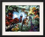 All New Savage She-Hulk 4 Group: Spider-Man, Lyra, She-Hulk, Ms. Marvel and Wolverine Prints by Peter Vale