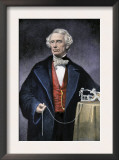Samuel Morse with His Invention, the Telegraph Prints