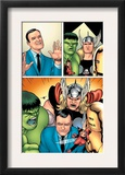 Avengers Classics 1 Group: Hulk, Thor, Lee, Stan and Iron Man Print by Kevin Maguire