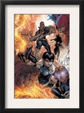 Avengers: The Initiative 16 Group: Nick Fury, Phobos, Yo-Yo, Hellfire, Druid, Stonewall and Quake Print by Stefano Caselli
