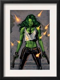 She-Hulk 26 Cover: She-Hulk Fighting Posters by Greg Land