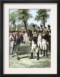 General Washington Introduced to Comte de Rochambeau, Commander of French Forces Allied with U.S Art