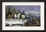 George Washington and His Continental Army Ferried across the Delaware River, c.1776 Prints
