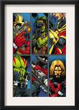 Guardians Of The Galaxy 2 Group: Gamora, Rocket Raccoon and Adam Warlock Prints by Paul Pelletier